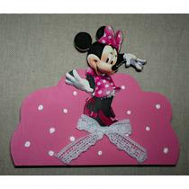 Servilletero Infantil En Fibrofacil Minnie Mickey Peppa Pig