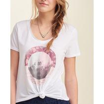 Hollister Camiseta Feminina Tamanho P Branca