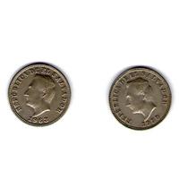 Paquete 2 Monedas De 5 Centavos Del Salvador 1959, 1963