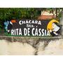 Placa De Madeira Entalhe Ranchos, Comercio, Chácara, Pousada