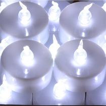 Velas De Led Luz Branca Decorativas Mini Vela Decoração