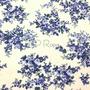 Flores Blanco-Azul (Polilycra)
