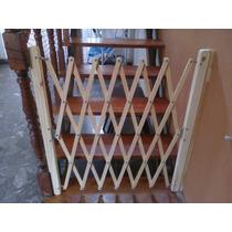 Puerta Plegable Madera Escalera Proteccion Bebes Barrera