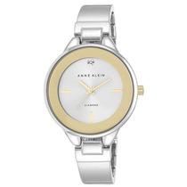Reloj Anne Klein Diamond Plateado Metal Mujer Ak/2307svtt