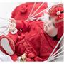 kit maternidade renda vermelha