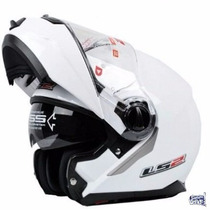 Casco Ls2 F 386 -blanco Brillante- Cascos Rebatible