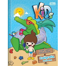 Caderno Pedagógico Brochura Capa Dura Pauta Azul Kids 40fls