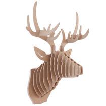 Venado 6mm Mdf Cabeza Decorativa Animal Decoracion Trofeo