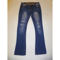 Jeans Dollhouse Mezclilla Stretch Azul Talla 11