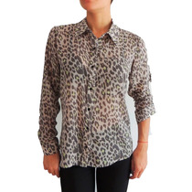 Camisa De Gasa Estampada Animal Print , Activity
