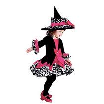 Disfraz Lujo Bruja Niña Halloween Vestido Janie La Brujita