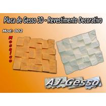 Placa De Gesso 3d-revestimento Decorativo (mod: Mosaico)