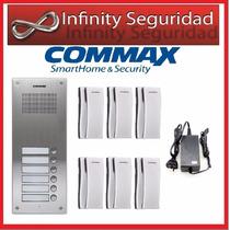 Portero Electrico Commax 6 Departamentos Pulsadores Timbres