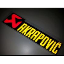 Adesivo Retangular Akrapovic Em Metal Para Ponteira 11,5x3,4