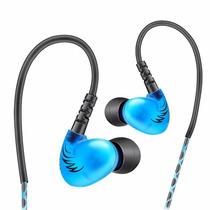 Audífono Monitor Personal In Ear Qkz S6 Azul - Aisla Ruidos