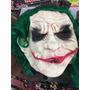 Máscara Látex Guasón Joker Con Pelo Verde - 50 Máscaras