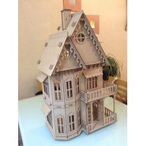 Casa Gotica Para Muñecas En Madera Mdf Corte Laser!!!