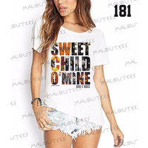 Camiseta T-shirts Feminina Fashion Guns N