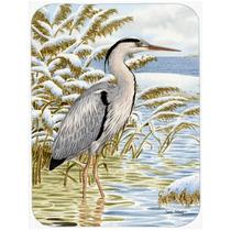 Blue Heron En El Agua De Vidrio Tabla De Cortar Grande Asa20