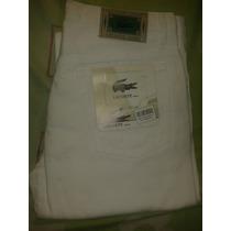 Pantalones Blanco Marca Lacoste