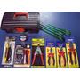 Kit Eletricista Profissional 13 Itens Com Multímetro Maleta