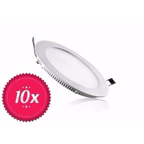 Kit 10 Luminaria Plafon Spot Led Embutir Slim Lampada 18w
