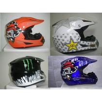 Cascos Motocross, Skull, Monster, Rockstar Oferta Una Semana