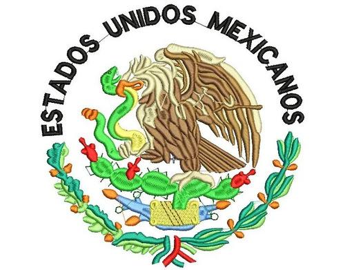 Ponchados Wilcom México Escudo Nacional