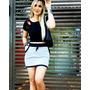 Saia De Moletom Com Bolso Moda Blogueira