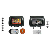 Kit Encosto Cabeça C/ Leitor Dvd + Monitor Lcd 7 Pol + Game
