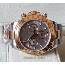 Relógio Máquina Eta Valjoux A7750 Daytona Dial Cinza Misto