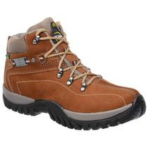 Bota Coturno Adventure Tchwm Shoes Em Couro Nobuck Castor