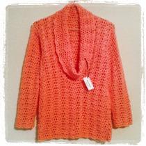 Tejidos Artesanales A Crochet: Sweaters Cuello Volcado!!