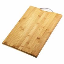 Tabua De Corte 34x24 Bambu Com Alça Churrasco Cozinha