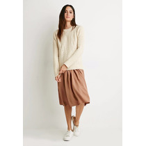 Hermoso Sweater Tejido En Punto Color Beige Forever 21 M