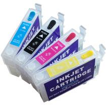 Kit 4 Cartuchos Recarregáveis Tx115 Tx105 T23 T24 +140ml Ink