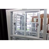 Ventana De Aluminio Blanco 1,20 X 1,10 Mts Vidrio Entero