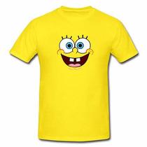 Camisa Camiseta Bob Esponja Algodão