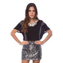 Blusa De Franela V Negra Saints Clothes