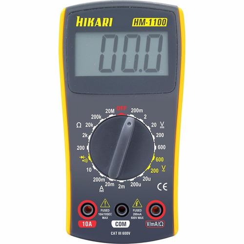 Multimetro - Voltímetro - Amperímetro - Ohmímetro - Hikari ...
