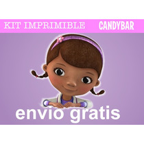 Kit Imprimible Doctora Juguetes - Candy Bar Promo 3x1