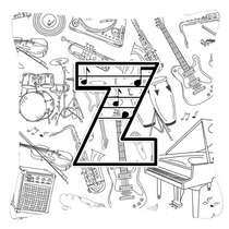 Letra Z Nota Musical Cartas Tela De Lona Almohada Decorativa