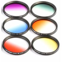 Kit De 6 Filtros De Colores Degradados 58 Mm, Envío Gratis