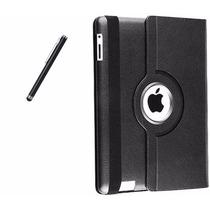 Capa Case Couro Ipad 2 3 4 Retina Luxo 360 + Pelicula+caneta