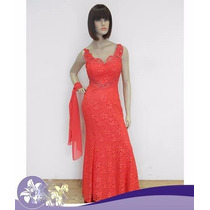 Vestido Festa/casamento/madrinha/coral/mãe De Noiv/p/entrega