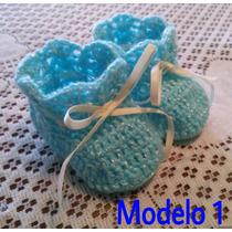 Zapatos Para Bebé Tejidos En Crochet