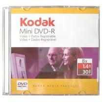 10 Mini Dvd-r Kodak 8x 1.4 Gb 30 Min C/ Caixinha Acrilica