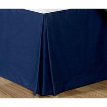 Rodapie Queen Size Azul Marino Vianney Envio Gratis