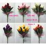 Kit 6 Flores Artificiais Tulipa 40cm Pronto Entregam