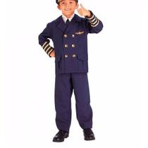 Uniforme Infantil Terno Piloto Comercial 4 A 6 Anos.